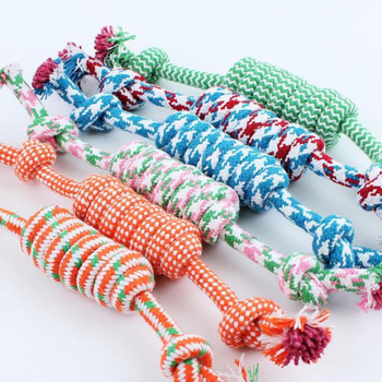 1 Pcs 27CM Dog Toys Funny Cotton Rope For Small Puppy Dogs Pet Chew Supplies Random Colors