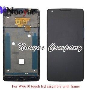 Image 2 - Getestet Schwarz Digitizer Für Philips W6610 W6618 Touchscreen Sensor mit LCD display volle Vollständig Montage rahmen