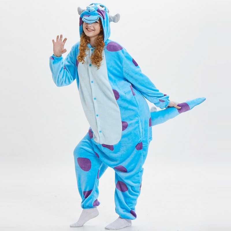 Monster-Inc-Sullivan-Onesies-For-Adults-monstruos-university-Kigurumi-Animal-Pajamas-Flannel-Warm-Long-Sleeve-Hooded (3)