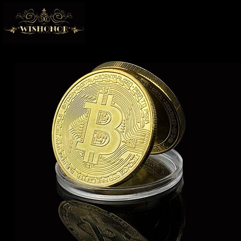 Новинка Биткоин, эфириум, литекоин, Пульсация, портативная монета, EOS металлическая физическая серебряная, позолоченная памятная монета Бит...