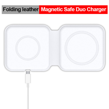 Cenmaso Original Magnetic Safe Duo Double Wireless Fast Charger For Iphone 12 Pro Max 12 Mini For Apple Phone Fast Charger 15W 9