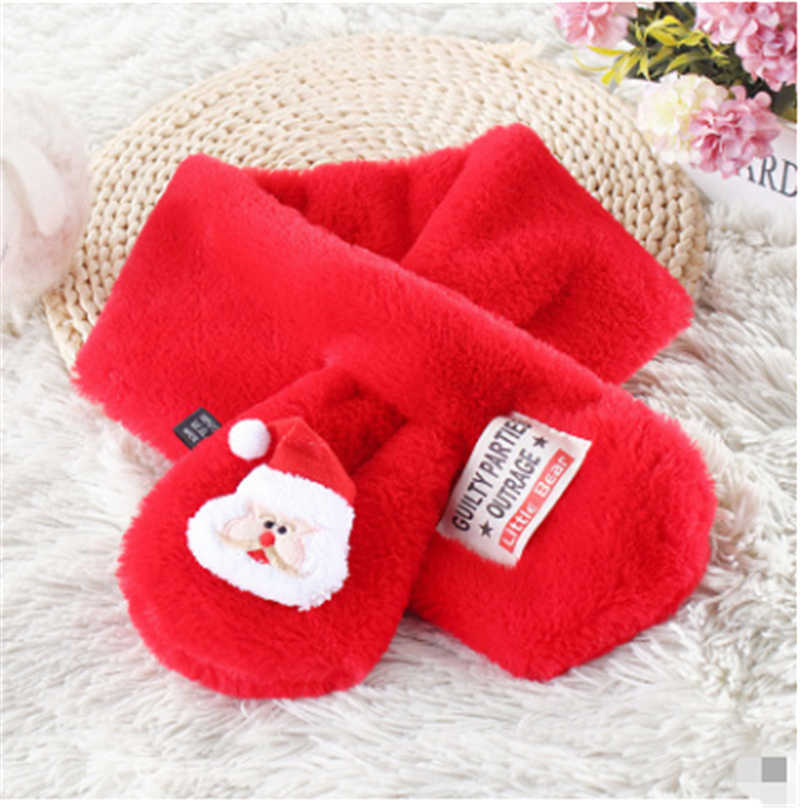 baby scarf autumn winter  xmas christmas Tree Elk santa claus cute red scarfs for infantil todder kids girls boys