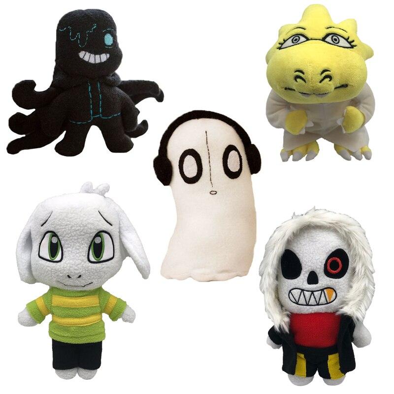 20-30cm Undertale jouets en peluche nouveau Sans Frisk Chara Asriel Lancer Zombie pieuvre musique poupée peluche douce pour enfants cadeaux