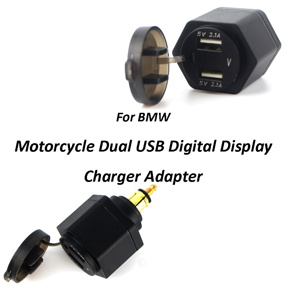 New 12-24V 4.8A For BMW R1200GS F650GS F700GS R1250GS R Ninet Motorcycle Dual USB Charger Power Adapter Cigarette Lighter Socket