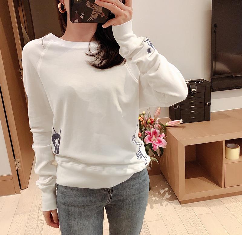 Women Hoodie Fashion Casual Loose Cotton White Sweatshirt