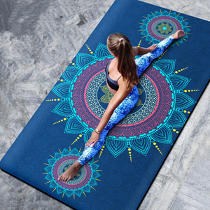 183cm*100cm*8mm Large Width Natural Suede Non-Slip Yoga Mat TPE Bottom Fitness Gymnastics Dance Mat Pilates & Carpet Cushion
