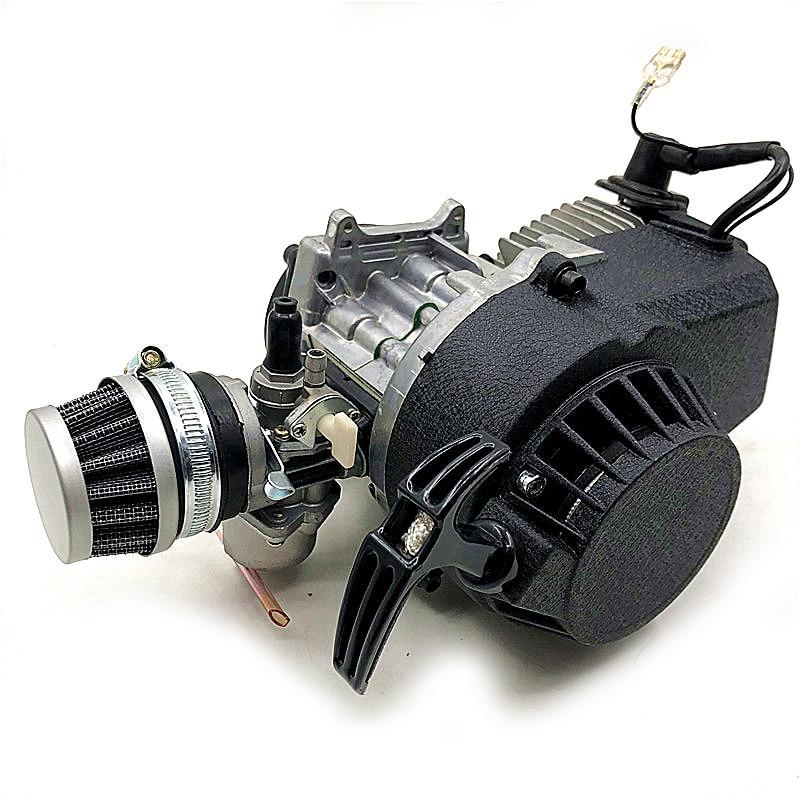 2-тактный двигатель 49cc Pull Start 25H, ведущее колесо мотора, воздушный фильтр, Мини карманный питбайк, квадроцикл, 4 колеса