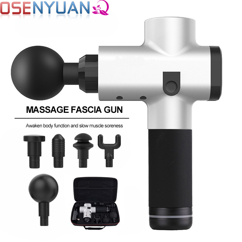 Deep Tissue Massager with 3 Speeds,Powerful Cordless Percussion Massage Gun Portable Massage Device with 6 Massage Heads Carbon