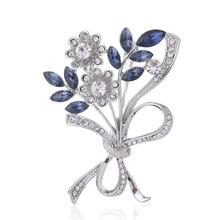 Sunflower Enamel Brooch Delicate Yellow Purple Elegant Women Girls Rhinestone Lapel Pin Clothes Accessories Gift Jewelry