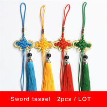 Hanging-Wire Sword Short Tai-Chi Kung-Fu Chinese-Knot Wushu Martial-Arts 15cm Ear Tassel-Length