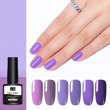 NEE JOLIE 8mlGel Nail Polish Purple Series UV Gel Soak Off Art Varnish One-shot Color