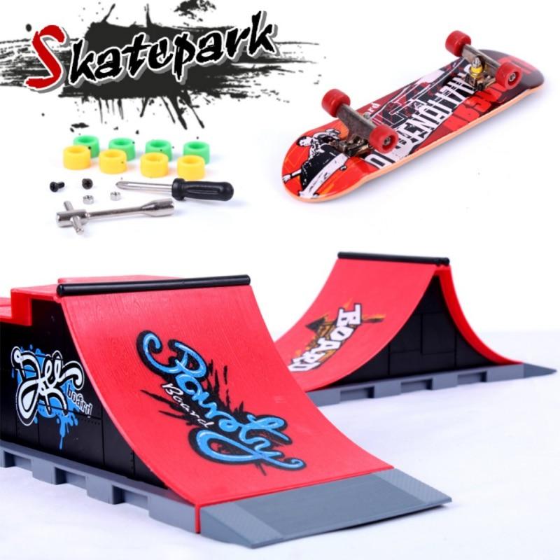Skate Park Fingerboard Skate Park Fingerboard ABCDEF Board Ultimate Parks Skateboard Toys Professional Fingerboard 3PCS