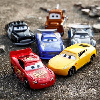 Disney Boy Pixar Cars 2 3 Lightning McQueen Jackson Storm Mater 1:55 Diecast Metal Alloy Model Car Toy Children Birthday Gift cars disney pixar cars jackson storm doc hudson mater 1 55 diecast metal alloy model car birthday gift disney toys for children