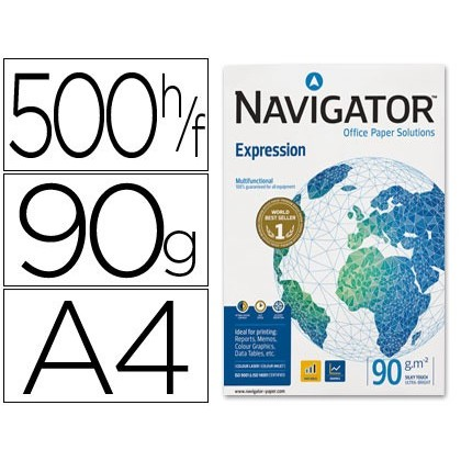 NAVIGATOR . PAPER PHOTOCOPIER DIN A4 90 GRAMS PACK 500 SHEETS