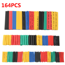 164pcs Set Polyolefin Shrinking Assorted Heat Shrink Tube Wire Cable Insulated Sleeving Tubing hand tools Set