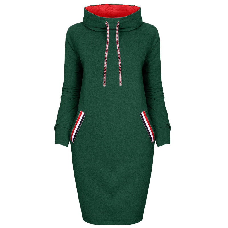 VOZRO Multicolor High Lead Long Sleeve Package Buttocks Winter Maxi Autumn Casual Sweater Red Dress Women Vestido Clothes Befree 30