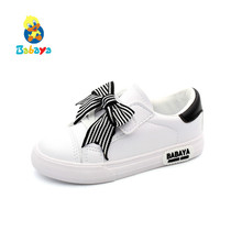 babaya Girls Shoes Kid Shoes Children Girls  Bow knot 2019 Spring New Princess Shoes Fashion Girls Casual Shoes Girls Sneakers