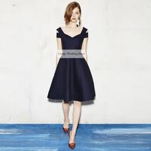 Verngo Short Evening Dress 2020 Little Black Dress Elegant Party Gown Simple Formal Dresses Vintage Custom Made Abendkleider