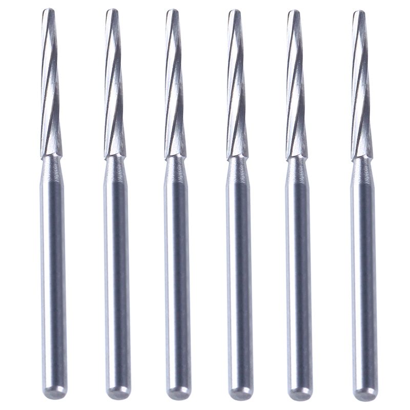 6 Pcs/Box Dental Drills Lab Tungsten Steel Carbide Burs Dental Clinical Zekrya FG Finishing Burs High Speed Cutters 28mm Sale