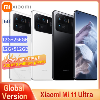 Xiaomi Mi 11Ultra Global Version 12GB+256GB 5G Smartphone Snapdragon 888 120X 50 Million Pixels 2K AMOLED Curved Flexible Screen 1