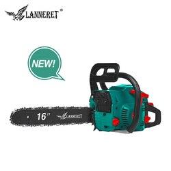 Scie à chaîne essence LANNERET tronçonneuse essence 45CC coupe bois 2 temps 1.7 kw moteur essence tronçonneuse avec chaîne de scie et dessus de lame