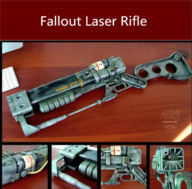 Paper Fallout Laser Rifle Gun Model Toys Handmade 3D DIY Material Manual Party Show Props Tide Collection Kids Gift 2173