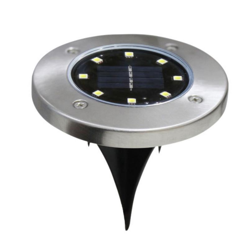 8/12/16/20 LED Solar Powered Ground Light 8 Led Pathway Floor Light Underground LampsOutdoor Garden Landscape Garden Lawn Lamp