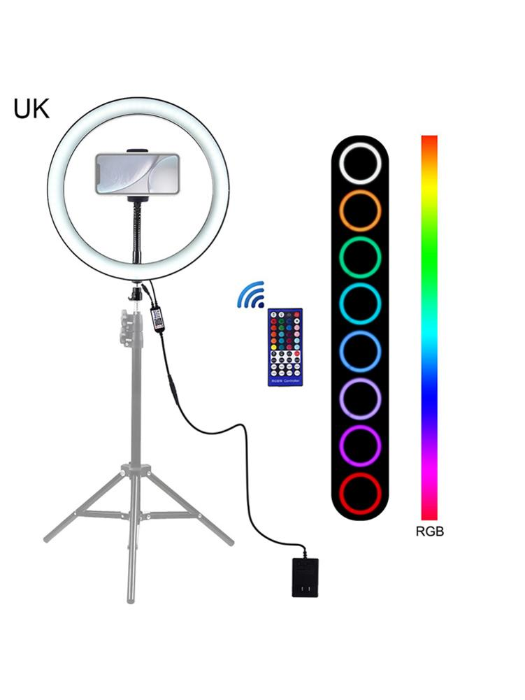 12inch LED RGB Flash Ring Fill Light Mobile Phone Clip For Outdoor Photography Indoor Portraits With Remote Controller
