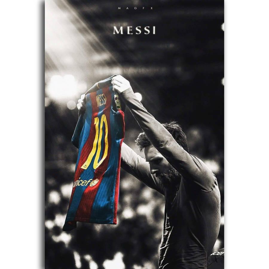 Lionel Messi Football Soccer Super Classic Silk Fabric Wall Poster Art Decor Sticker Bright