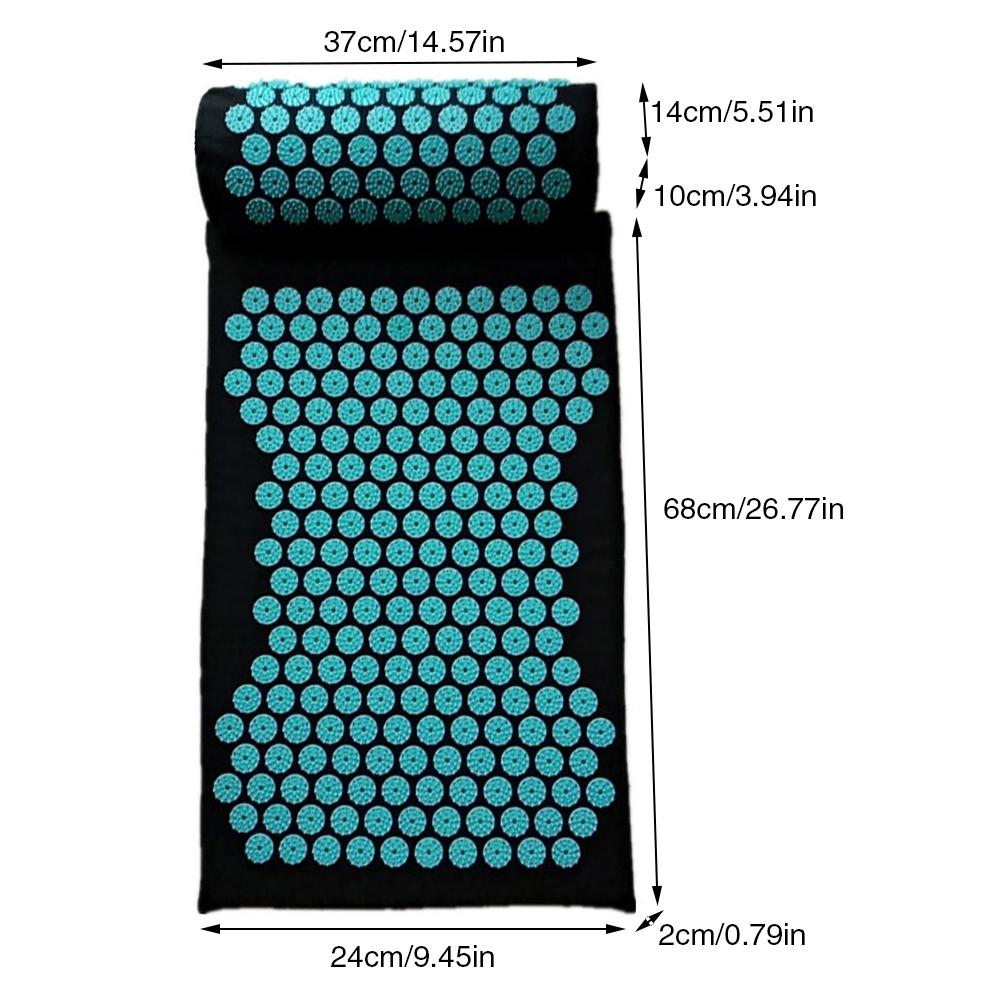 Acupressure Massage Mat including Pillow Sets to Relieve Stress and Back Pain with Spike 15