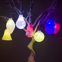 7-Color Drop Ornament Flashing LED Light Up Christmas Pendant Decorative Hanging Holiday