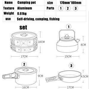 Image 3 - Pentole da campeggio di qualità set di pentole da esterno stoviglie da campeggio set da cucina stoviglie da viaggio posate utensili escursionismo set da picnic