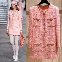 2019 elegant vestidos plus size tweed dress women custom 5xl 6xl vestidos de fie