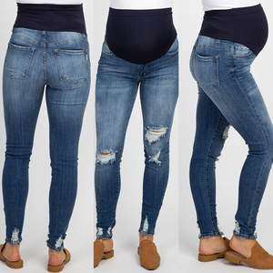 Jeans Legging Trousers Maternity-Pants Pregnant-Woman Nursing-Prop-Belly Ripped High-Waist