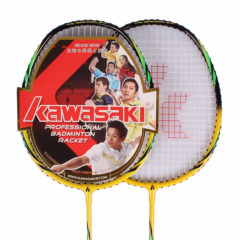 Купить с кэшбэком Kawasaki badminton racket double shot junior intermediate iron aluminum outer tee training series entry-level pair