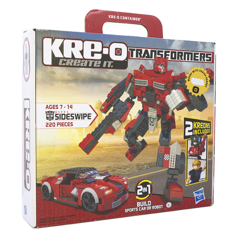 Toys Transformer Building-Blocks Hasbro Kre-O Particle-Assembly Intellectual-Development