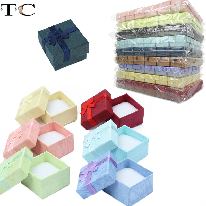 Ring Gift Box Jewelry Organizer Paper Box Ring Packaging Box Jewellry Store Container Earring Box 24pcs/Lot