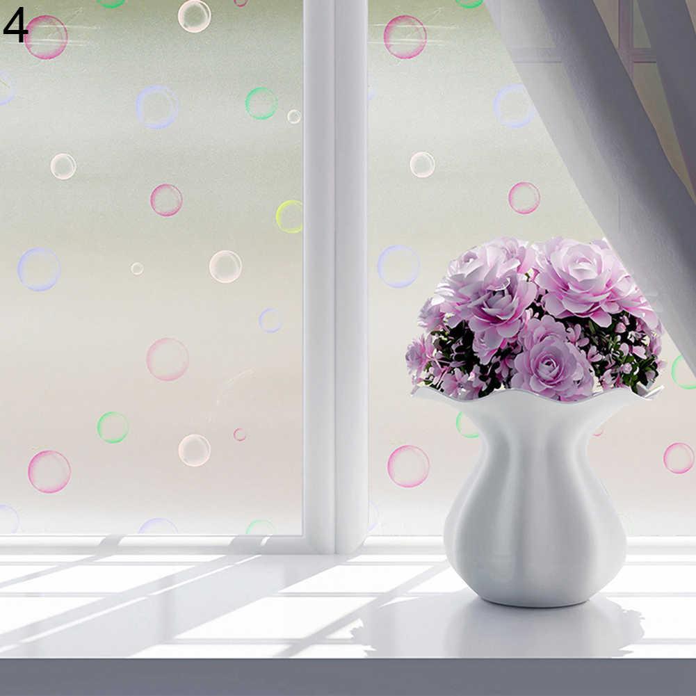 Широкий матовый матовая, на оконное стекло пленка для окна приватная клейкая Стекло наклейки для домашнего декора, смешанные Цвет Спальня