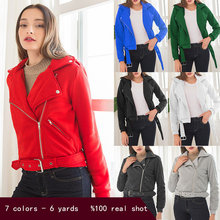 autumn 2020 and winter coat women's long-sleeved sweater European and American women's lapel short jacket(China)