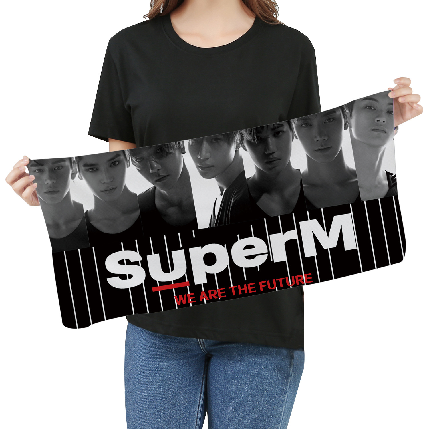 KPOP Super M Towel Fans Respond To Aid Periphery Towel Wash One's Face A Piece Of Cloth Exceed Fine Fiber Banner Towel