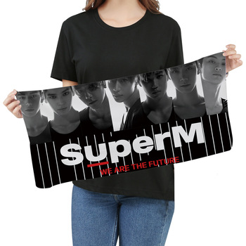 SuperM KPOP Super M Towel Fans Respond To Aid Periphery Towel Wash One's Face A Piece Of Cloth Exceed Fine Fiber Banner Towel