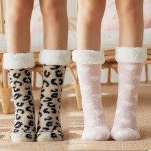 Winter Socks Non-Slip Warm Cotton Padded Christmas Girl Cute Ladies Sleep Gifts Hot-Sale