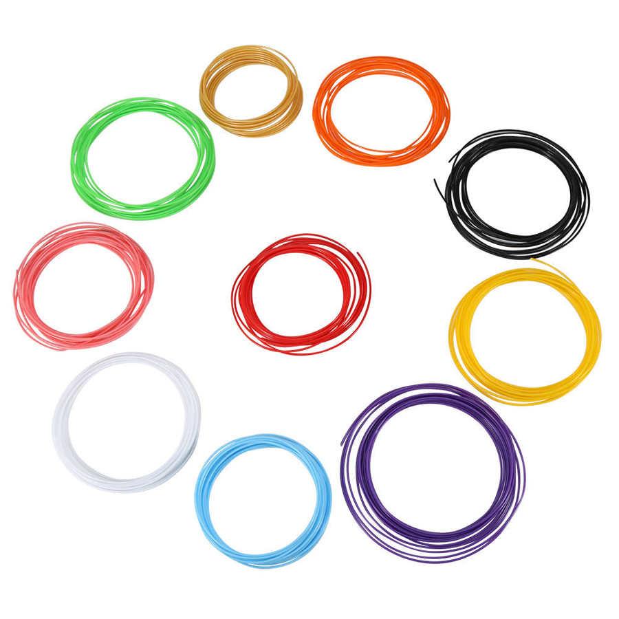Нити 10 цветов 5 м/рулон ABS / PLA нити для принтера 1 75 мм Пластиковые расходные материалы