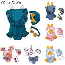 Купальный костюм для маленьких девочек; Цельный Детский купальный