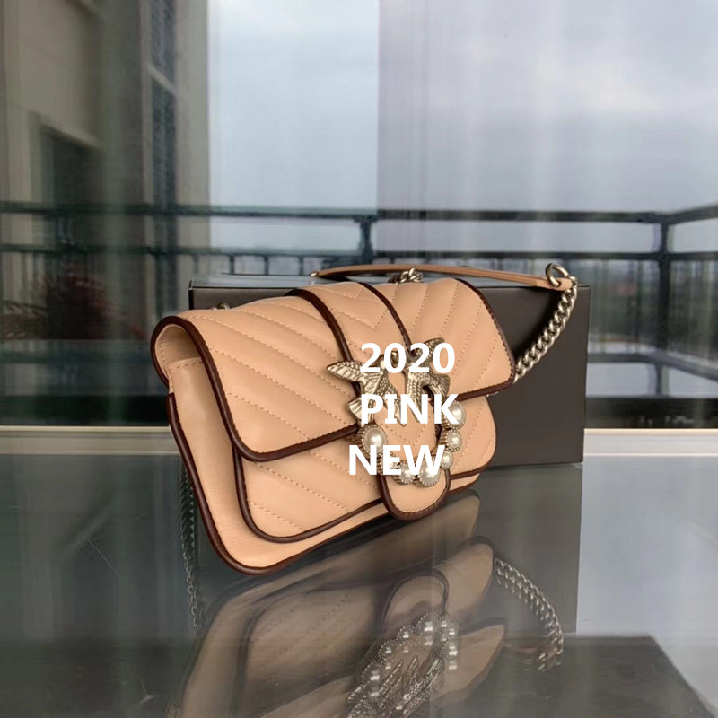 2020 Classic original quality bag solid swallow rivet handbag women messenger bags famous luxury brand designer genuine leather