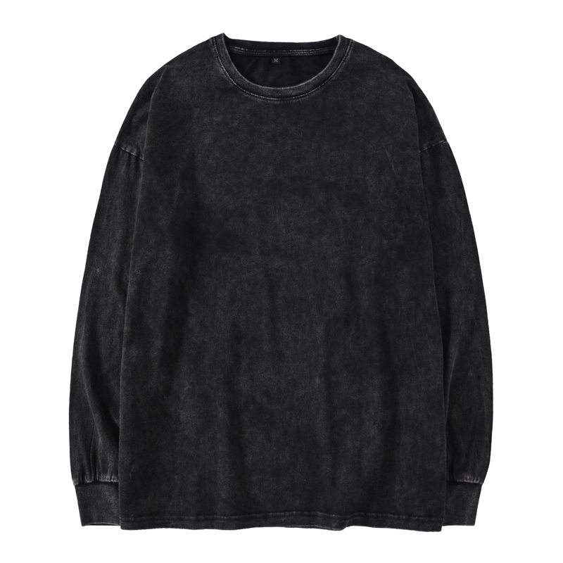 Kanye West Oversized Long Sleeve T-Shirt Men Hip Hop Heavy Washed T Shirts For Men O Neck Top Tees Male Long Sleeve Streetwear