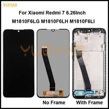 Yeni Xiaomi Redmi için 7 LCD ekran test AAA Lcd ekran + dokunmatik ekran değiştirme çerçeve ile Xiaomi için redmi 7 M1810F6LG LCD