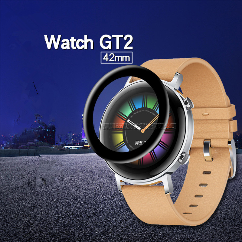 3D Edge Full Cover Soft  Screen Protector Anti-Scratch Protective Film For HUAWEI Watch GT2 Gt 2 42mm  Not Glass