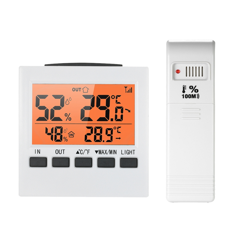 Indoor/Outdoor Wireless Weather Station Lcd Digital Thermometer Hygrometer Temperature Humidity Meter Thermoregulator