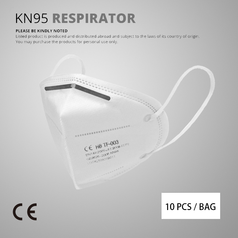 10 Pcs KN95 Face Masks Dust Respirator Adaptable Against Pollution